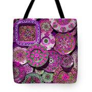 Erice Sicily Plates Pink Tote Bag