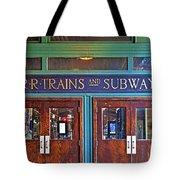 Erie Lackawanna Terminal Doors Hoboken Tote Bag