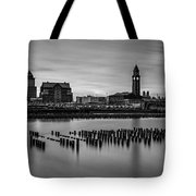 Erie Lackawanna Terminal Sunset Bw Tote Bag