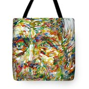 Ernst Junger Watercolor Portrait Tote Bag