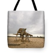 Eroded Tree Stumps Stand On Their Roots Tote Bag