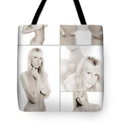 Erotic Beauty Collage 18 Tote Bag