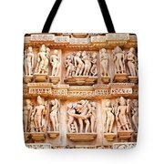 Erotic Human Sculptures Khajuraho India Tote Bag