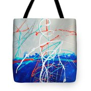 Erupting Blues Tote Bag
