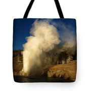 Eruption Along The Firehole Tote Bag