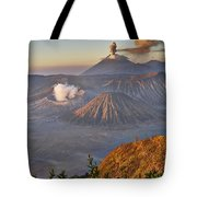 eruption at Gunung Bromo Tote Bag