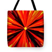 Eruption In Red Tote Bag