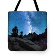 Eruption Of The Milky Way Tote Bag