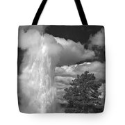 Eruptions By The Clock Tote Bag
