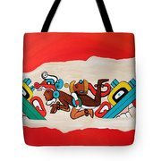 Escaping The Mayan Underworld Tote Bag
