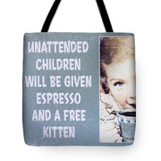 Espresso And Kitten Sign Tote Bag