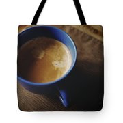 Espresso With Cream In Blue Porcelain Tote Bag