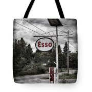 Esso Sign And Pump Tote Bag