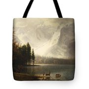 Estes Park Colorado Whytes Lake Tote Bag