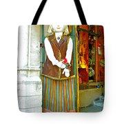 Estonian Greeter In Old Town Tallinn-estonia Tote Bag