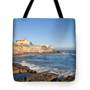 Estoril Coastline In Portugal Tote Bag