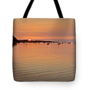 Estruary Harbour Sunset Tote Bag