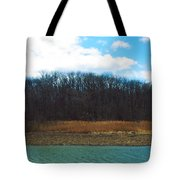 Estuary In Early Spring Tote Bag