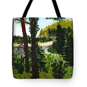 Estuary In Oregon Tote Bag