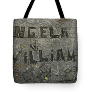 Etched In Wood Tote Bag