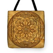 Eternity Mandala Leather Tote Bag
