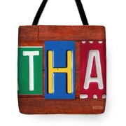 Ethan License Plate Name Sign Fun Kid Room Decor. Tote Bag