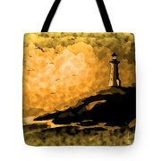 Ethereal Lighthouse Tote Bag