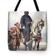 Eunuch Of The Seraglio On A Fine Arab Tote Bag by Amadeo Preziosi