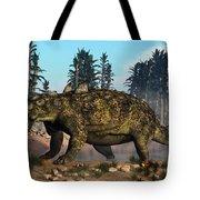 Euoplocephalus Dinosaur Grazing Tote Bag