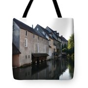 Eure River And Old Fulling Mills In Chartres Tote Bag