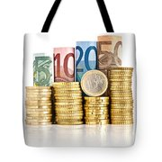 Euro Currency Tote Bag