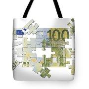 Euro Puzzle Tote Bag