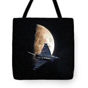 Eurofighter Against A Harvest Moon Tote Bag