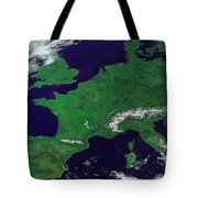 Europe From Above Tote Bag