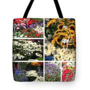 European Flower Market Collage Tote Bag