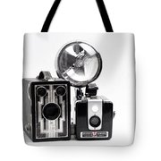 European Travelers Mother And Daughter Cameras Bw Tote Bag