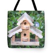 Evans's Birdhouse - Oil Paint Tote Bag