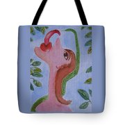 Eve And The Snake Tote Bag