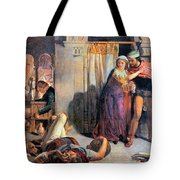 Eve Of Saint Agnes The Flight Of Madelein The Drunkenness Attending The Revelry Tote Bag