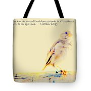 Even Sparrows Matter Tote Bag by Kathy Barney
