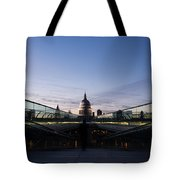Even The Clouds Aligned With St Paul's Cathedral And The Millennium Bridge - London Tote Bag