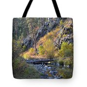 Evening Approaches Spring Creek Tote Bag