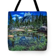Evening At Cathedral Lakes Tote Bag