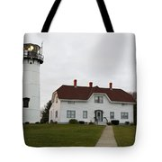Evening At Chatham  Lighthouse Tote Bag