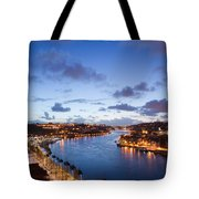 Evening At Douro River In Portugal Tote Bag