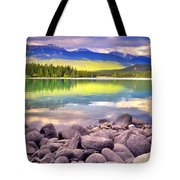 Evening At Lake Annette Tote Bag