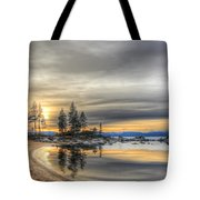Evening At Sand Harbor Tote Bag