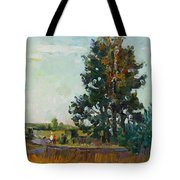 Evening At The Forest Edge Tote Bag