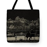 Evening Bench Warmers Tote Bag