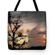 Evening Break In Rain Clouds Tote Bag
